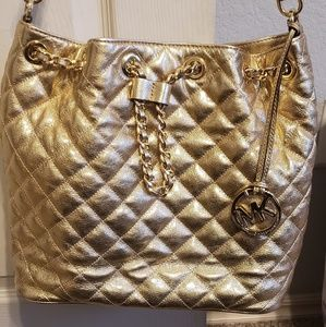 MK gold purse with gold hardware